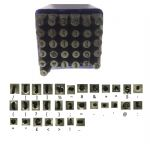 31 Piece 2mm Keyboard Symbol Sign Metalworking Metal Work Stamps, Punctuation, Currency etc. M9268